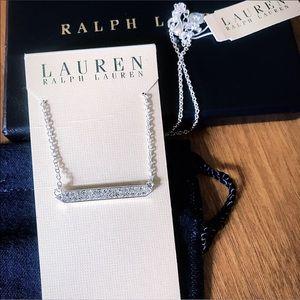 Ralph Lauren silver studded bar necklace